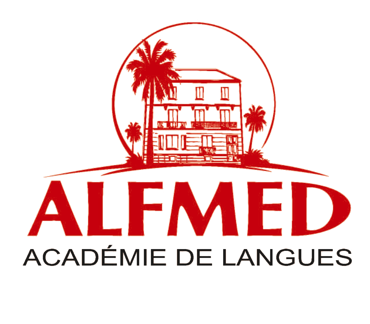logo alfmed rouge transparent